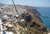 Santorini Cliff and cable car